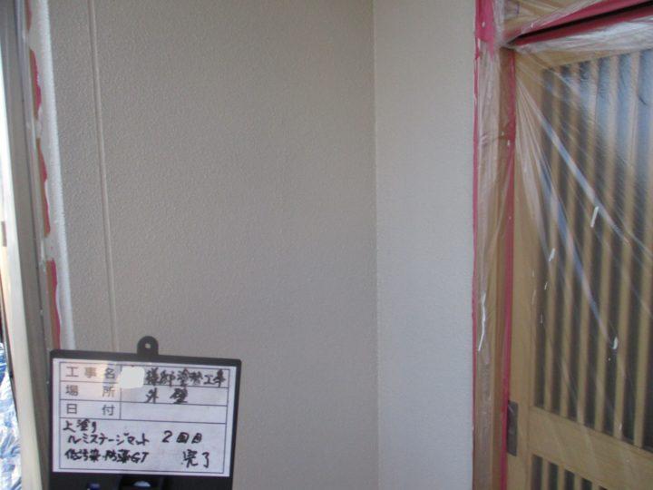 外壁 上塗り 2回目 完了