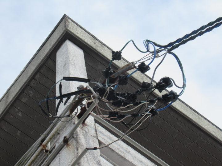 施工前 取入電線