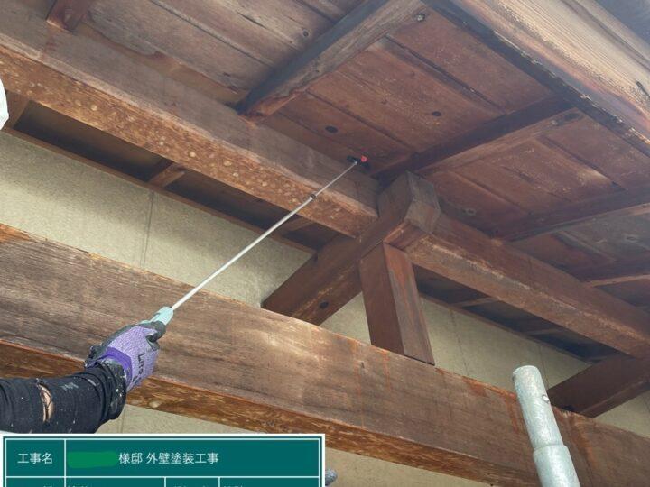 木部洗浄状況